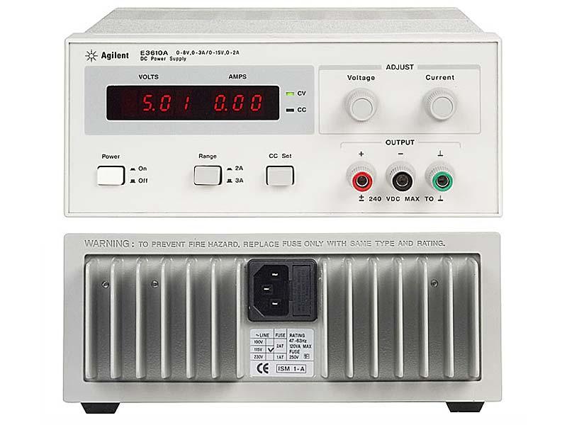 Источник питания Agilent Technologies E3612A (60V/0.5A, 120V/0.25A, 30 W.)
