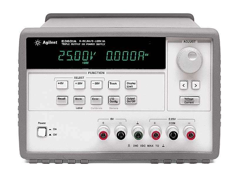 Источник питания Agilent Technologies E3634A (0-25V, 7A; 0-50V, 4A 160/200W. GPIB)