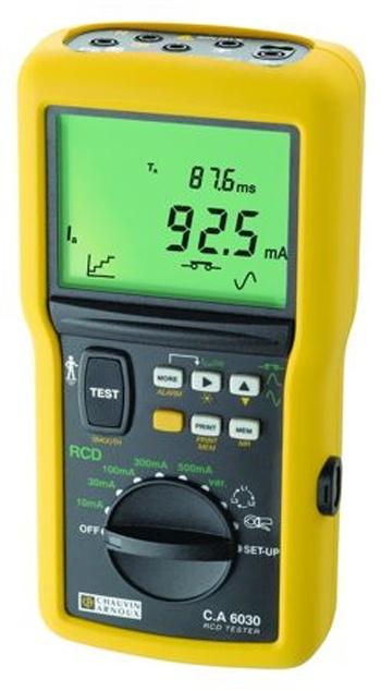 CA 6030 Измеритель параметров УЗО, напряжения прикосновения и петли